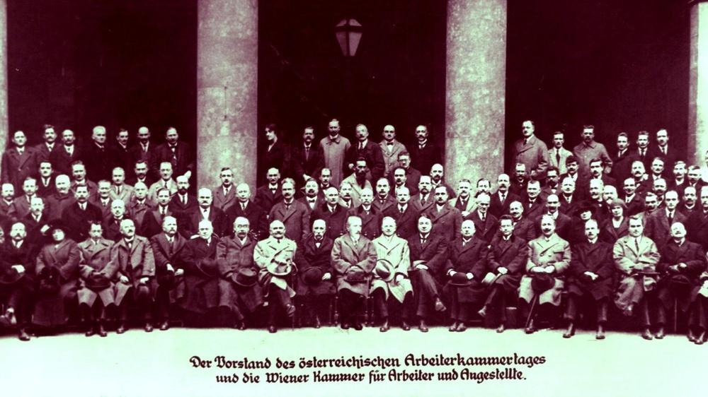 Der erste Vorstand der AK Wien, 1920. © AK