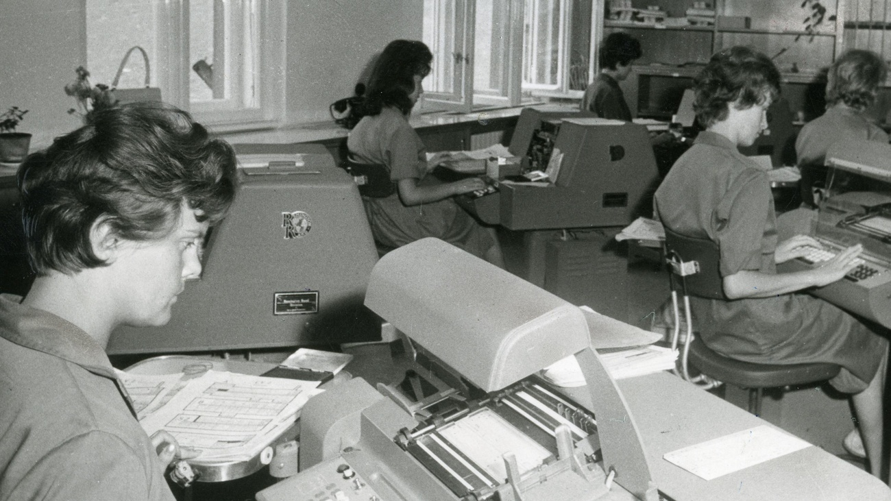 Frauen an Erfassungsautomaten, 1961 © Zvacek, ÖGB