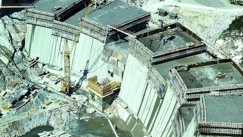 1975 - Bau des Malta - Speicherkraftwerks © ÖGB